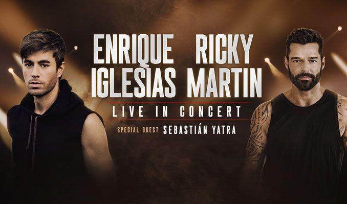 Enrique Iglesias & Ricky Martin at Toyota Center