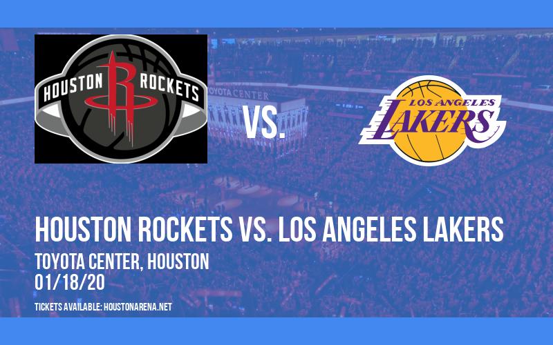Houston Rockets vs. Los Angeles Lakers Tickets   18th ...