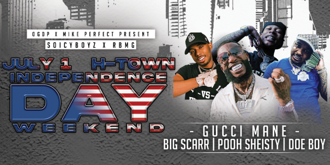Gucci Mane, Pooh Shiesty, Big Scarr & Doe Boy at Toyota Center